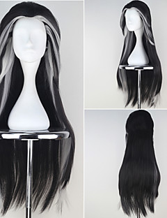 Cosplay Wigs Cosplay Cosplay Black / Gray Long Anime Cosplay Wigs 87 CM Heat Resistant Fiber Male / Female