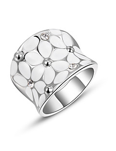 Tyylikkäät sormukset Cubic Zirkonia Metalliseos Muoti Kulta Hopea Korut Party 1kpl