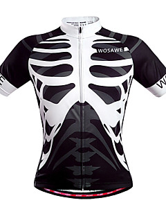 Wosawe® Cycling Jersey Unisex Short Sleeve Bike Breathable / Quick Dry / Back Pocket / Sweat-wicking Jersey / Tops Polyester Skulls Summer