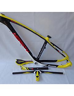 MB-NT202G7 Neasty Logo High Qulity Yellow Color 29er Full Carbon Fiber Mtb Frameset Frame Handlebar Saddle Seatpost