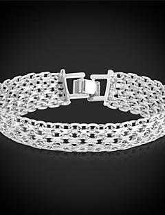 u7® guldarmbånd armbånd platin / 18k ægte forgyldt fancy mønster chunky kæde armbånd mode smykker