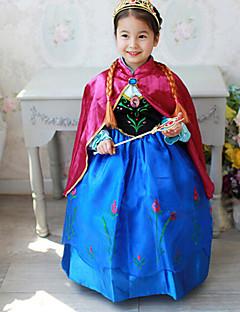 Fantasias de Cosplay / Festa a Fantasia Princesa Festival/Celebração Trajes da Noite das Bruxas Azul Patchwork Vestido / XaleDia Das