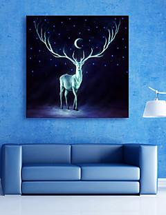 Djur / Landskap Canvastryck En panel Redo att hänga , Andra