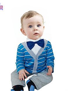 Waboats Fall Kids Baby Boy Gentleman Striped Long-Sleeved Onesie