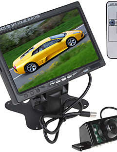 7 Inch 800 x 480  Color LCD Screen Car Rear View Monitor with HDMI + 7 IR Lights Car Rear View Camera