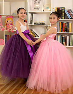 Performance Dresses Children's Performance Polyester Pleated 1 Piece Sleeveless Princess Leotard