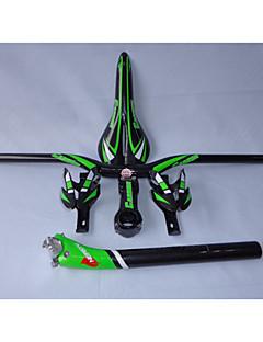 HB01+SP16+SA10+BC1004+CC06  Neasty Brand Full Carbon Fiber Mtb Bike Flat Handlebar Seatpost Saddle Cage Stem Green Color