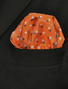 UH16 Shlax&Wing Floral Dots Pocket Square Orange Mens Hanky Handkerchiefs
