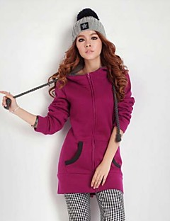 Women's Patchwork Red/Green/Purple Hoodies , Casual Hooded Long Sleeve