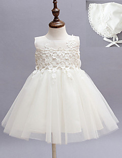 Two Pieces A-line Knee-length Flower Baby Girl Dress - Cotton/Tulle/Polyester Sleeveless