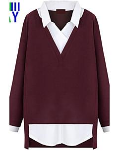 ZAY Women's OL Fashion Shirt Collar Long Loose Shirt Plus Size