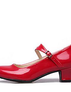 Niet Aanpasbare - Voor dames - Dance Schoenen ( Zwart/Rood/Zilver ) - met Lage Hak - en Modern
