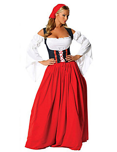 Cosplay Costumes/Party Costumes Beautiful Red/White Longuette Female Oktoberfest Costumes