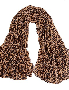 A Classic Leopard Long Scarf