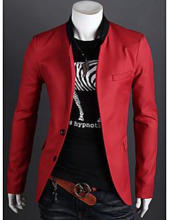 Ležérní / Práce Véčkový výstřih - Dlouhé rukávy - MEN - Suits & Blazers ( Směs bavlny )