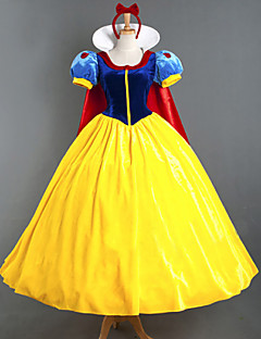Cosplay Costumes Princess Fairytale Movie Cosplay Red Patchwork Dress Headpiece Cloak More Accessories Halloween Christmas New Year Female