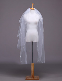 Wedding Veil Four-tier Elbow Veils Lace Applique Edge