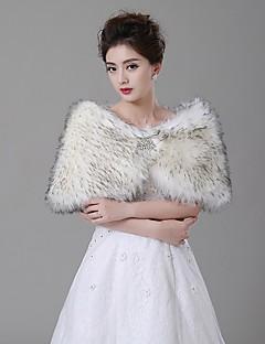Wedding  Wraps Capelets Faux Fur Ivory