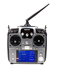 Silver Color 2.4G 10CH RC Hobby Radio Control Transmitter With Receiver