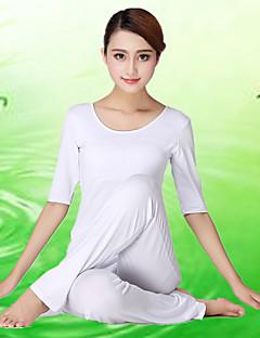 Outros Mulheres Ioga Ternos Meia Manga Respirável / Materiais Leves Branco Ioga / Fitness S / M / L / XL / XXL