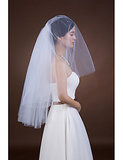 Wedding Veil Two-tier Elbow Veils Cut Edge