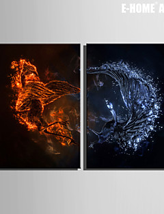 e-FOYER étiré art de toile sauvagine et Firebird ensemble de peinture décorative de 2
