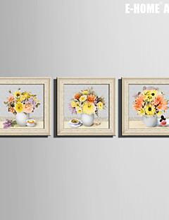 Floral/Botánico / Bodegón Lienzo enmarcado / Conjunto enmarcado Arte de la pared,PVC Beige Passepartout no incluido con MarcoArte de la