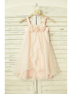 Sheath/Column Knee-length Flower Girl Dress - Chiffon Sleeveless