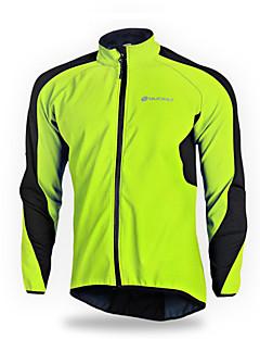 NUCKILY® ג'קט לרכיבה לגברים שרוול ארוך אופניים נושם / שמור על חום הגוף / עמיד / רצועות מחזירי אור מעילי רוח / ג'קט / ג'רזי אלסטיין טלאים