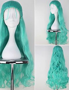 HITMAN REBORN Ki Kyo Long Wavy Bluish Green Anime Cosplay Full Wig