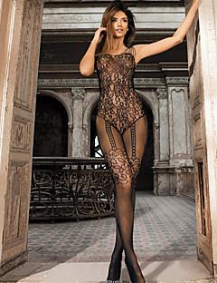 Women's Seductive Shoulder Strap Suspender Lace Bodystocking Nightwear