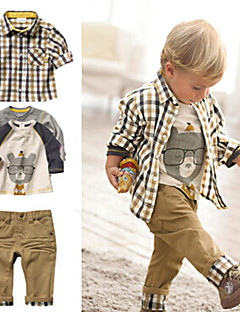 3p Blouse+Pants+Shirt Boy's Cotton / Polyester Clothing Set , Winter / Spring / Fall Long Sleeve