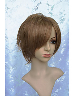 LanTing Cos  Code Geass Kururugi Suzaku Brown Short Cosplay  Party Anime Wig Hair