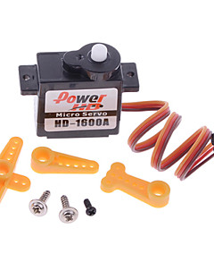 power hd-1600A 180 graders mikro servo R / C robot servo - sort