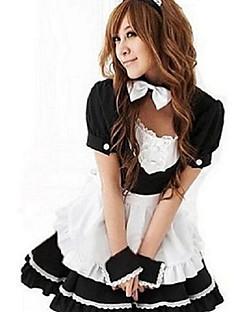 Cosplay Kostüme Uniformen Fest/Feiertage Halloween Kostüme Weiß / Rosa / Blau Patchwork Kleid Halloween / Karneval / Silvester Frau