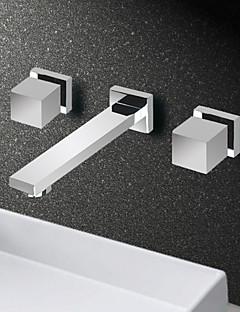 Wall Mounted Mixer Dual Handle Three Hole Bathroom Basin Kitchen Sink Faucet Cozinha Torneira Banheiro