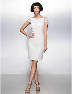 Cocktail Party Dress Sheath/Column Scoop Knee-length Chiffon