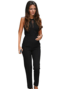 Women's Casual Round Neck Sleeveless Jumpsuits