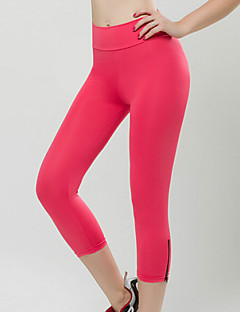 Women's Solid Zipper Fit Cropped Active Pants , Bodycon / Casual