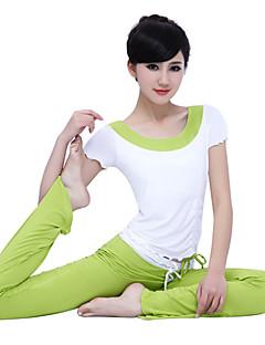 ヨガ 洋服セット 軽量素材 伸縮性 スポーツウェア 女性用 ヨガ ピラティス エクササイズ&フィットネス レジャースポーツ ランニング