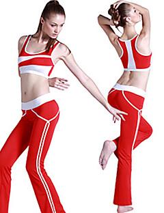 Ioga Conjuntos de Roupas/Ternos Calças + Tops Respirável / Materiais Leves / Elástico / Redutor de Suor / Suavidade Elasticidade AltaWear