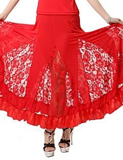 Dança de Salão Vestidos e Saias Mulheres Actuação Renda Seda Frufru 1 Peça Saia