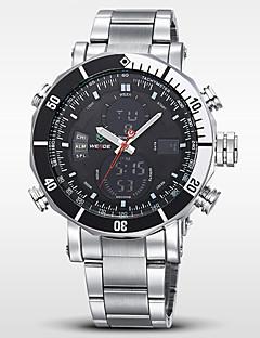 WEIDE® Men's Brand Luxury Analog & Digital Double Time Silver Steel Sports Watch Cool Watch Unique Watch Fashion Watch