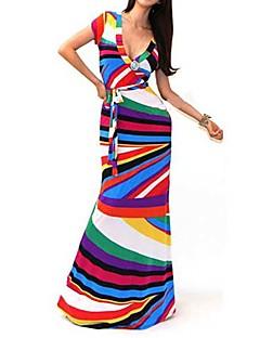 Sexy Package Hip Maxi Dress Fashion V-neck Long Sleeve Printed Long Dress desigual Women Party Dresses vestido