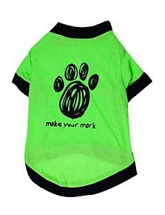猫用品 / 犬用品 Tシャツ グリーン 犬用ウェア 夏 / 春/秋 花/植物 ファッション