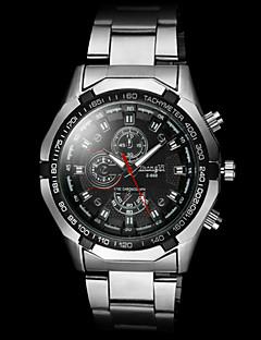 Masculino Relógio de Pulso Quartzo Lega Banda Prata Branco Preto