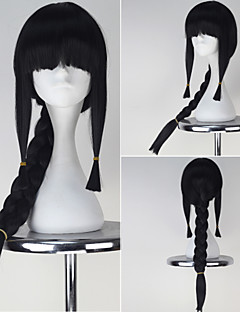 coleção frota kancolle Kitakami longa trança jogo cosplay cor de menina negra peruca completa