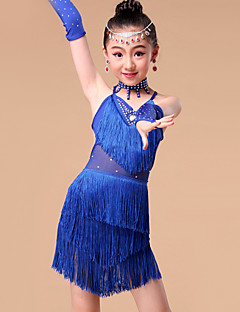 Kids' Dancewear Outfits Children's Performance Milk Fiber Crystals/Rhinestones / Tassel(s) 5 Pieces