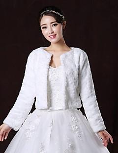 Coprispalle in pelliccia / Wraps Wedding / Cappotti in pelliccia Cappotti / Giacche Maniche lunghe Pelliccia ecologica BiancoMatrimonio /