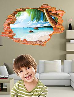 Botanique / Noël / Bande dessinée / Romance / Mode / Paysage / Forme / 3D Stickers muraux Stickers muraux 3D , PVC90cm x 60cm( 35in x